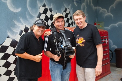 Brian Johnson and Bill Elliot with Hilaire Brosio